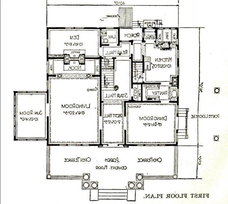 Sears Magnolia - first story floor plan.