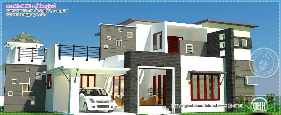 Residential house elevation photos for Kerala residential building elevations