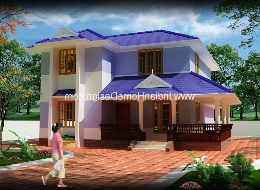 Kerala low cost house photos for Low cost house plans with photos
