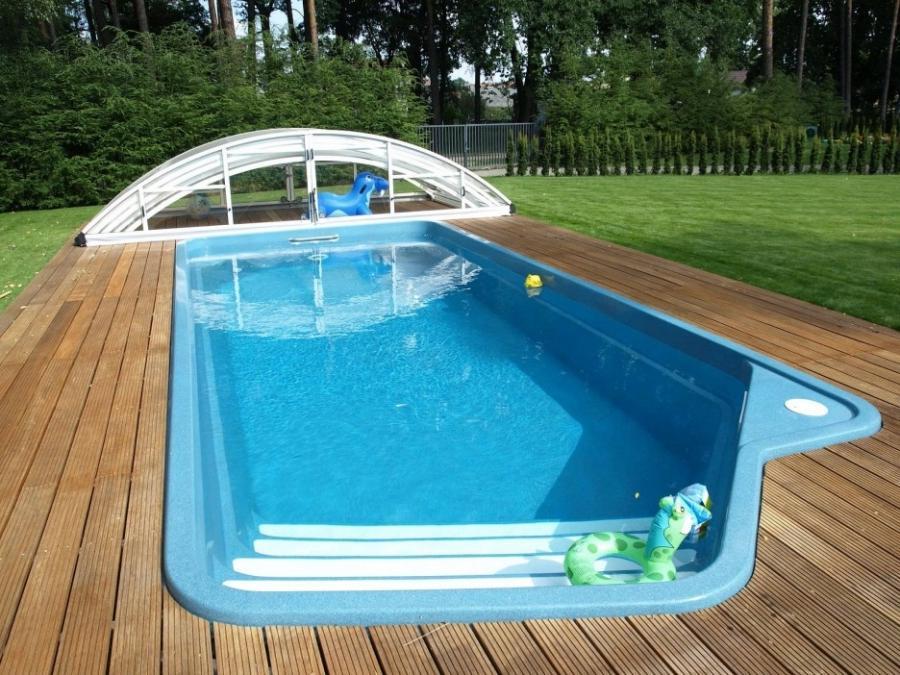 Inground pool decoration photos for Pool decks for inground pools