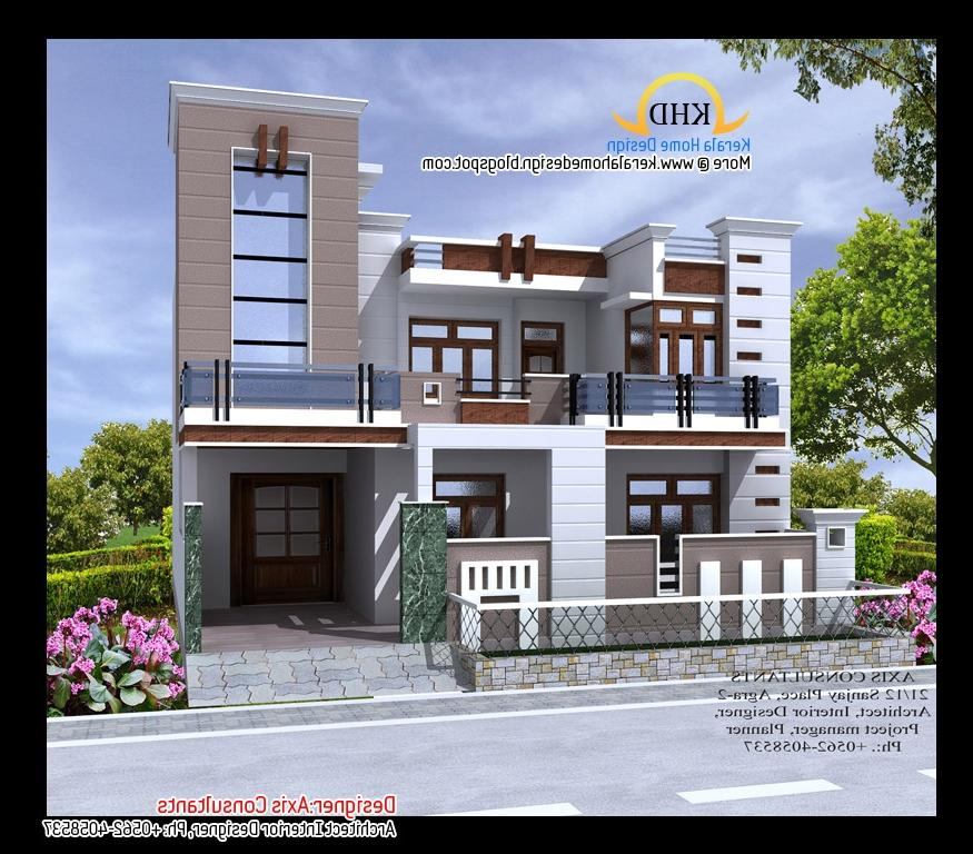 Photo gallery of front elevation of indian houses for Indian homes front design