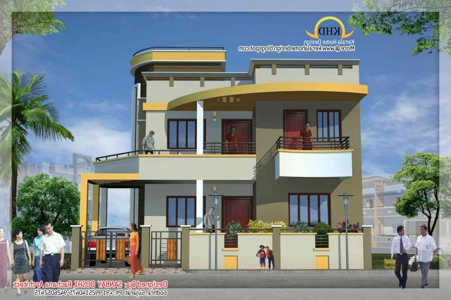 South indian house front elevation models joy studio for South indian model house plan