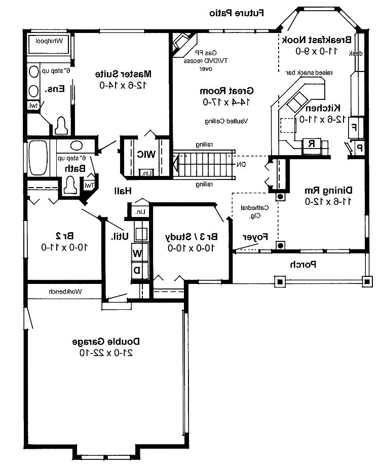 Photos of open floor plan homes for Open floor plan house plans with photos